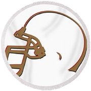 San Francisco 49ers Helmet Round Beach Towel