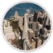 San Francisco Aloft Round Beach Towel