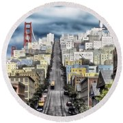San Francisco Backlot Walt Disney World Round Beach Towel