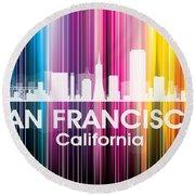 San Francisco Ca 2 Round Beach Towel