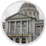 San Francisco  City Hall Round Beach Towel