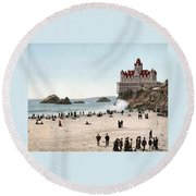 San Francisco Cliff House 1902 Round Beach Towel