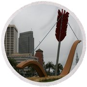 San Francisco - Cupid's Span Round Beach Towel
