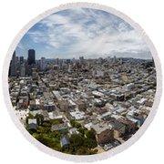 San Francisco Daytime Panoramic Round Beach Towel