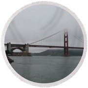 San Francisco - Golden Gate Bridge  Round Beach Towel
