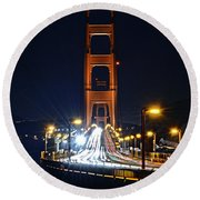 San Francisco - Golden Gate Bridge From North Vista Point Round Beach Towel