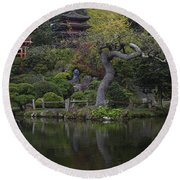 San Francisco Japanese Garden Round Beach Towel