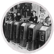 San Francisco Kinetoscope Round Beach Towel