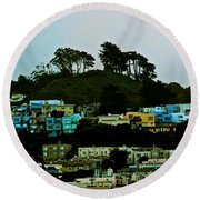 San Francisco Neighborhood Round Beach Towel
