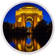 San Francisco Palace Of Fine Arts Round Beach Towel