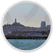 San Francisco Skyline -2 Round Beach Towel