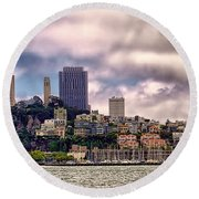 San Francisco Skyline Round Beach Towel