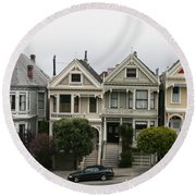 San Francisco - The Painted Ladies Round Beach Towel