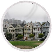 San Francisco - The Painted Ladies I Round Beach Towel