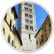 San Frediano Tower Round Beach Towel