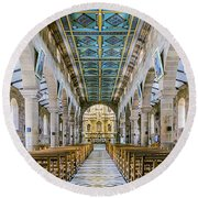 San Gil Cathedral  Round Beach Towel