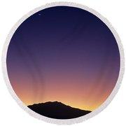 San Jacinto Mountains Crescent Moon Round Beach Towel