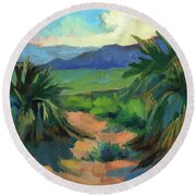 San Jacinto Visitors Center Round Beach Towel