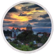 San Miguel De Allende Sunset Round Beach Towel