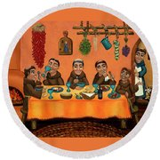 San Pascuals Table Round Beach Towel by Victoria De Almeida