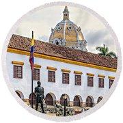 San Pedro Claver Monastery Round Beach Towel