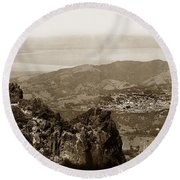 San Rafael From Mount Tamalpais California Circa 1905 Photo By Putnam- Valentine Round Beach Towel