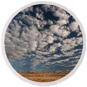 San Rafael Swell Near Goblin Valley Utah Round Beach Towel
