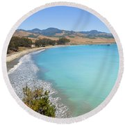 San Simeon Bay Round Beach Towel