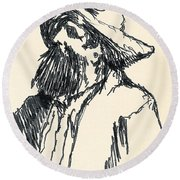 Sancho Round Beach Towel