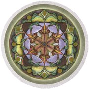 Sanctuary Mandala Round Beach Towel
