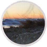 Sand And Ice Round Beach Towel