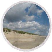 Sand And Sea Round Beach Towel