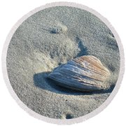 Sand And Seashell Round Beach Towel