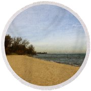 Sand And Water Round Beach Towel