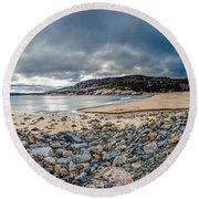 Sand Beach At Acadia Round Beach Towel