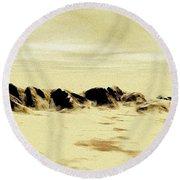 Sand Desert Round Beach Towel