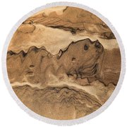 Sand Dog Round Beach Towel