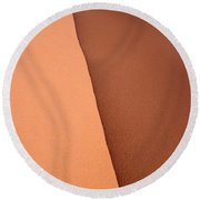 Sand Dune Edge Round Beach Towel