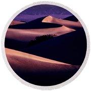 Sand Dunes At Sunrise Round Beach Towel