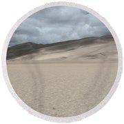 Sand Dunes Park Round Beach Towel