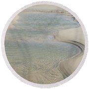 Sand Formations Round Beach Towel