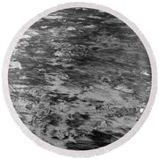 Sand In Low Tide Round Beach Towel