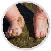 Sand Is Squishy Round Beach Towel