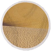 Sand Layers Round Beach Towel