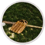 Sand Lot Baseball Round Beach Towel