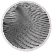 Sand Pattern Abstract - 3 - Black And White Round Beach Towel