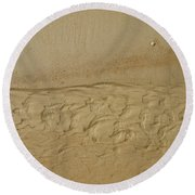 Sand Patterns Round Beach Towel