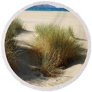 Sand Sea Mountains - Crete Round Beach Towel