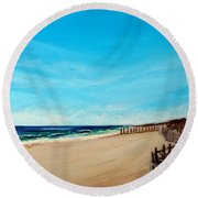 Sandbridge Virginia Beach Round Beach Towel