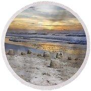 Sandcastle Sunrise Round Beach Towel